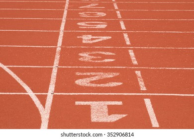 Racetrack for athletics.