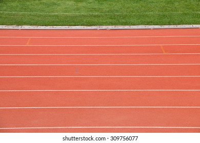 Racetrack in campus stadium