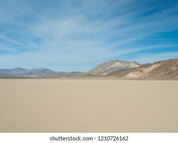 The Racetrack Playa Dry Lake in Death Valley National Park, California, USA