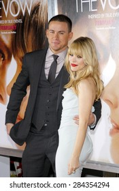 Rachel McAdams and Channing Tatum at the Los Angeles premiere of 'The Vow' held at the Grauman's Chinese Theatre in Hollywood on February 6, 2012.