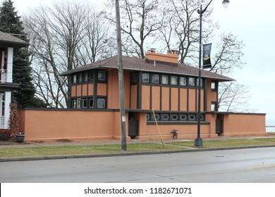 Racine, Wisconsin - 12/27/2014: Thomas Hardy Residence. Architect Frank Lloyd Wright. Built 1905.