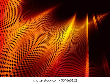 Racing abstract background, stylized similar to the checkered flag. With beautiful reflections of light. For the design in racing cars, competition, rally, speed,  championship.