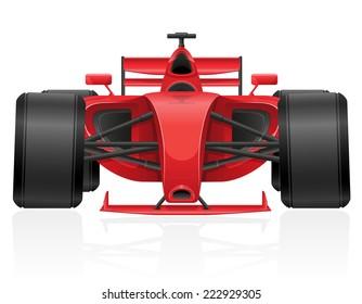 racing car illustration isolated on white background