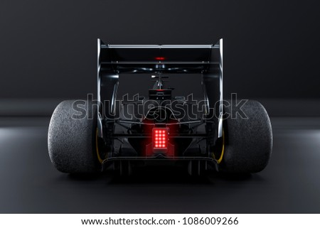 Racing car view from
