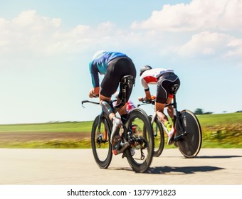 Racing Cyclists, motion blurred