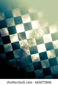 """Racing flag. Executed in the abstract and stylized. Texture sometimes blurred, sometimes show some """"graininess"""""""