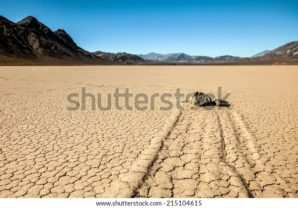 Racing rocks at Racetrack Playa in Death Valley National Park