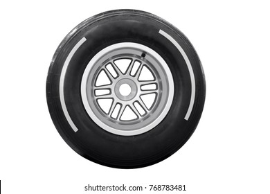 racing tire isolated on white background