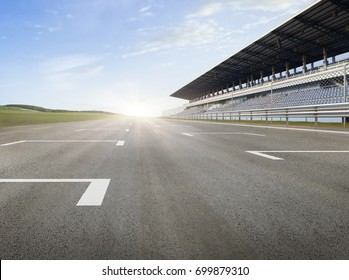 racing track horizontal