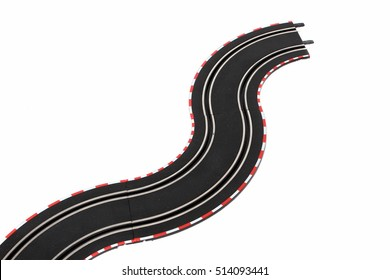 Racing track on white background