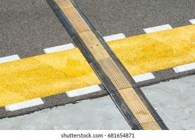 Racing track pit lane asphalt