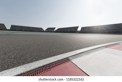 Racing track with sunlight
