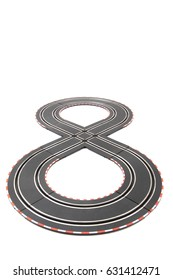 racing track toy isolated on the white background