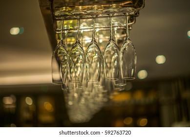 Rack of champagne glasses - 2