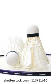 Racket and shuttlecock badminton