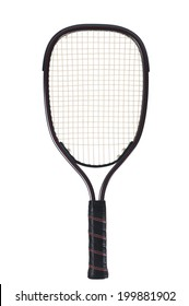 Racquetball Racket isolated on white background.