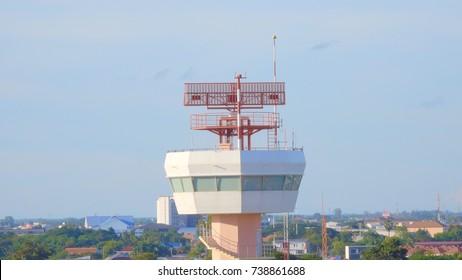 radar communication tower plane