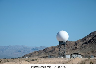 Radar dome in the desert