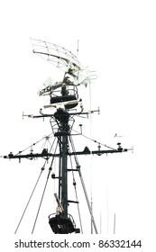 Radar isolated on white background