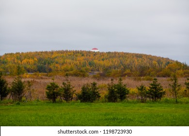 Radar is located on the mountain near Pulkovo airport. There is also the Pulkovo Observatory.