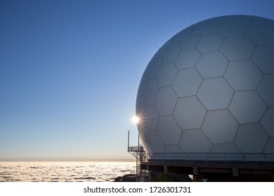 Radar station on the summit of Portuguese Mountain
