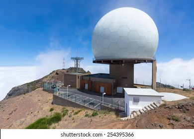 Radar station at top of Pico do Arieiro, Madeira Island, Portugal