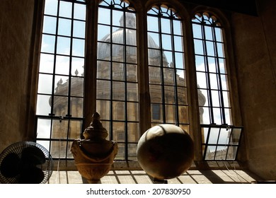 The Radcliffe Camera in Oxford as seen from a window of the Bodleian Library