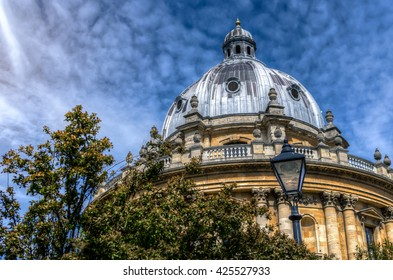 The Radcliffe Camera at Oxford UK. A Palladian-style academic library and reading rooms, designed by James Gibbs.