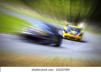 Radial blur in racing car track