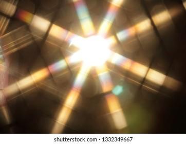 Radiant strip of light, star of light