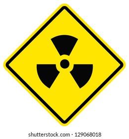 Radiation hazard symbol sign of radhaz threat alert icon.