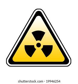 Radiation Warning Sign, Radio-Active Symbol, White Background