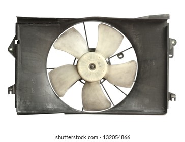 Radiator cooler fan isolated on white background