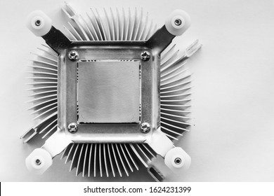 The radiator of the CPU of the computer