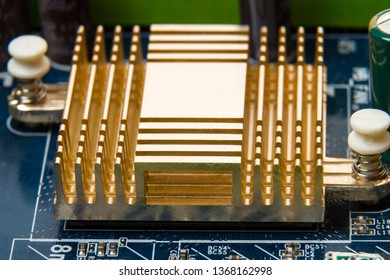 Radiator for exhaust heat chip on the motherboard