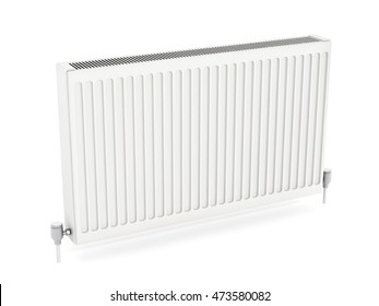 Radiator isolated on white background. 3D illustration.