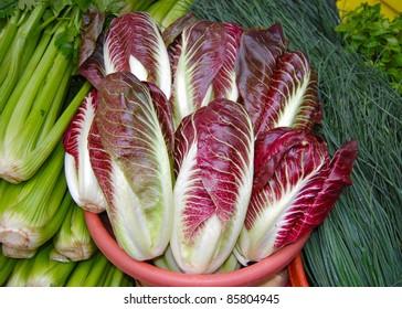 Radicchio Lettuce at Farmer's Market