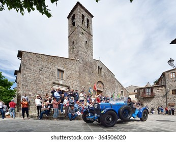 RADICOFANI (SI), ITALY - MAY 16: A blue Talbot AV 105 S takes part to the 1000 Miglia classic car race on May 16, 2015 in Radicofani (SI). The car was built in 1933.