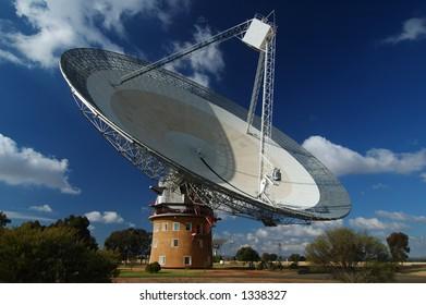 Radio Antenna Dish Near Parkes, NSW, Australia