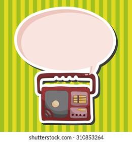 radio, cartoon speech icon
