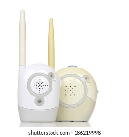 Radio child baby monitor device on a white background