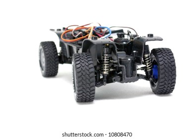 A radio control car without the body.