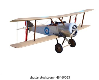 Radio Controlled  WWI Model Biplane isolated with clipping path