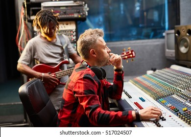 Radio deejay in studio