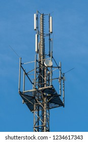 Radio mast with antennas
