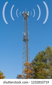 Radio mast with different antennas