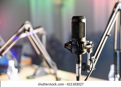 Radio microphone in the studio
