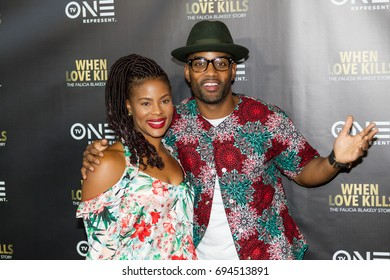 """Radio personality Willie Moore jr. and guest TV One Premiere of """" WHEN LOVE KILLS """" on Wednesday, August 9, 2017 at the Regal Atlantic Station in  Atlanta, Georgia - USA"""