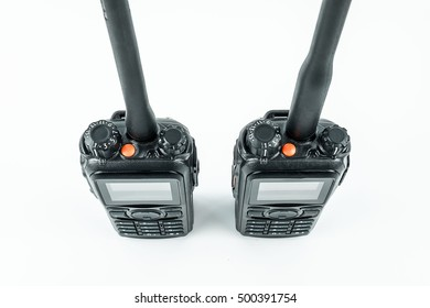 radio of portable  on  white background
