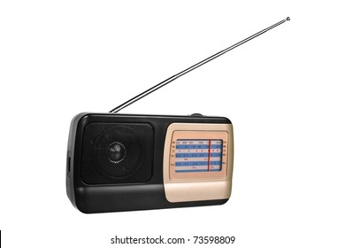 Radio Receiver isolated on the white